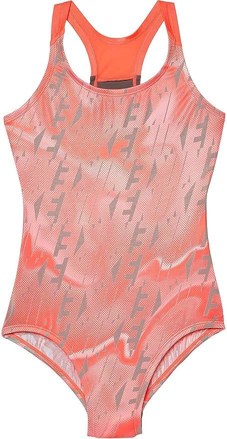 6521f26e46832 Amazon.com: NIKE Girls Amp Axis Racerback Sport Swimsuit (Hot Punch ...