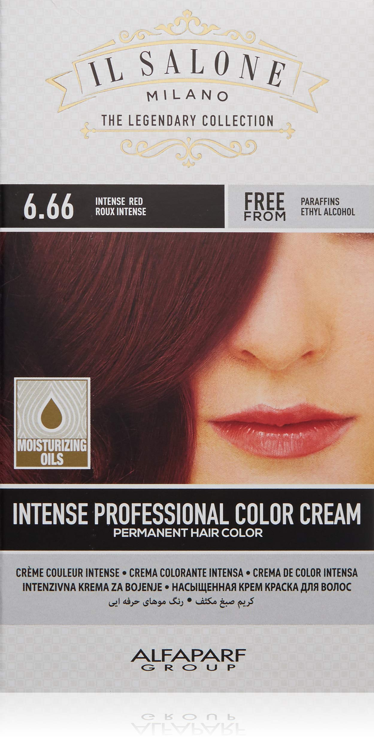 Il Salone Milano Permanent Hair Color Cream - 6.66 Intense Red Hair Dye - Professional Salon - Premium Quality - 100% Gray Coverage - Paraffin Free - Ethyl Alcohol Free - Moisturizing Oils