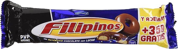 Filipinos - Galletas bañadas con chocolate con leche - - 100 g ...
