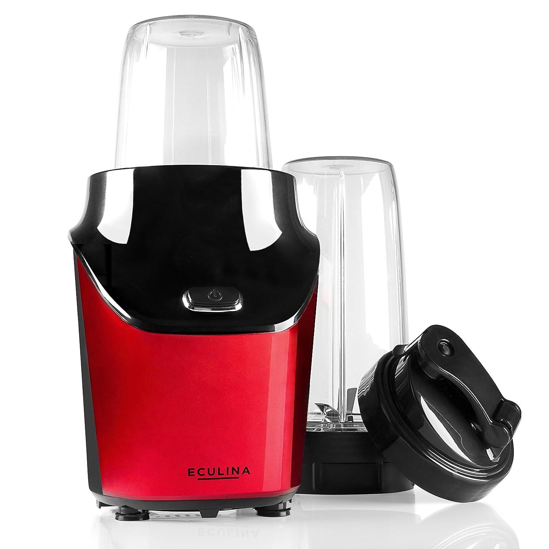 eculina Smoothie maker en rojo/negro - Potente batidora 1000 W ...