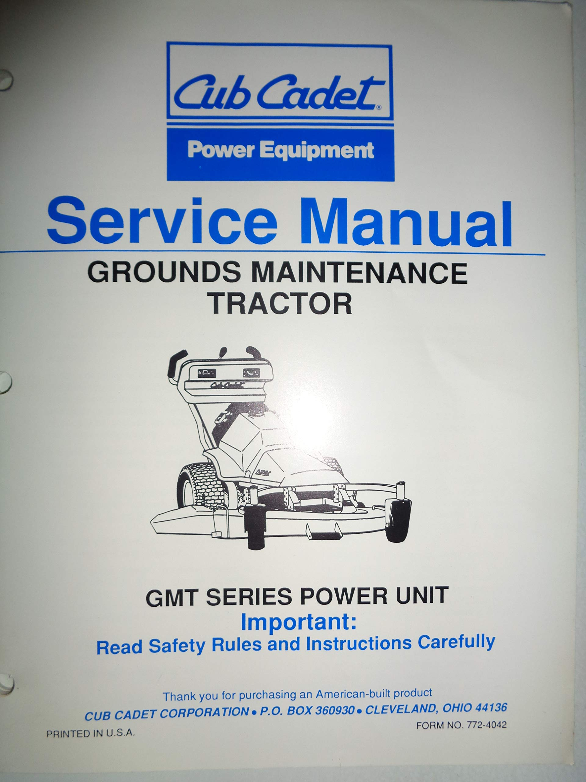 Cub Cadet GMT 085 125 150 Grounds Maintenance Tractor Tractor Service Manual  772-4042: Cub, Cub Cadet: Amazon.com: Books
