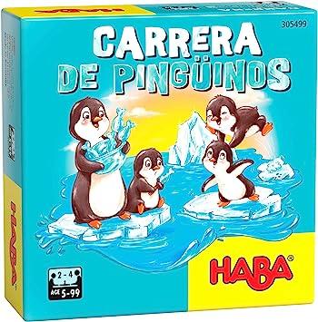 HABA- Carrera de pingüinos-ESP Juego de Mesa (Habermass H305499): Amazon.es: Juguetes y juegos