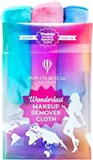 RAINBOW ROVERS Set of 3 Makeup Remover Cloths | Chemical Free | Suitable for All Skin Types | Reusable & Ultra fine Makeup Wipes | Removes Makeup with Water | Wanderlust Travel Pack | Multiple Colours