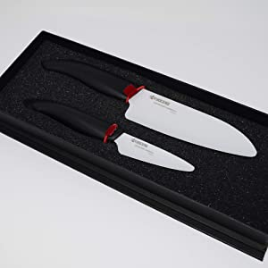 Kyocera FK-2PC WH3 Revolution Ceramic Knife 1 EA Black Handle/White Blade