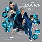 Doctor Who Classic 12 Month 2019 Wall Calendar Official Square Calendar with Organising Stickers Bundle, Great Gift.