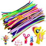 Acerich 300 Pcs Pipe Cleaners Assorted Colors Chenille Stems for Valentine Day DIY Art Craft Decorations (6 mm x 12 inch)
