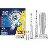 Oral-B Pro 6500 SmartSeries elektrische Zahnbürste, mit Timer und vier Aufsteckbürsten, Bonus Pack mit 2 Handstücken, weiß
