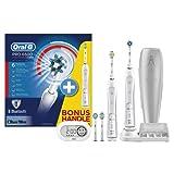 Oral-B SmartSeries 6500 Elektrische Zahnbürste (wiederaufladbare Zahnbürste mit 2. Handstück, mit Bluetooth, Timer, Aufsteckbürsten CrossAction, Sensitiv, 3DWhite, Tiefenreinigung, powered by Braun)