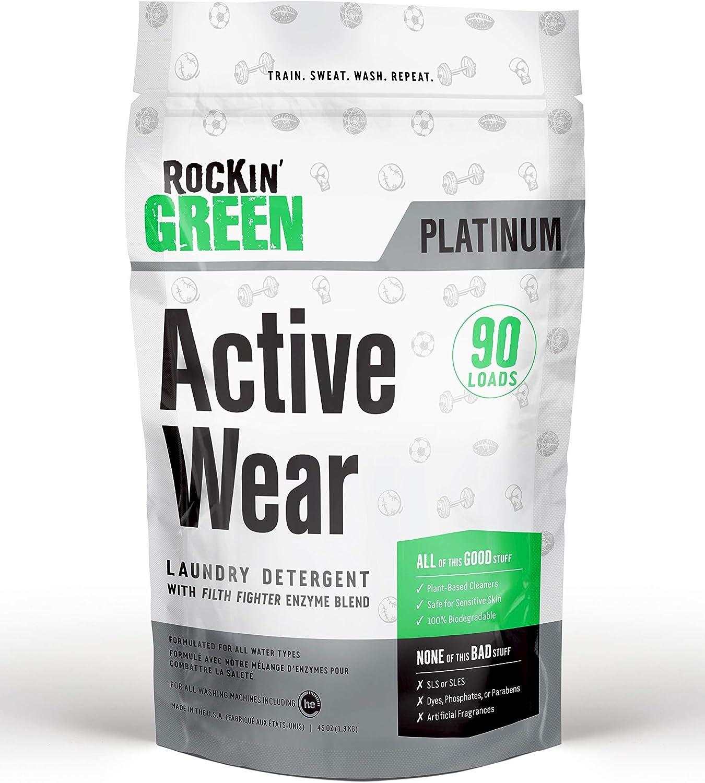 Rockin Green Platinum Series Detergente en polvo para ropa activa ...