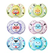 Tommee Tippee Closer to Nature Fun Pacifier, 0-6 Months, 2 Count (Colors will vary)