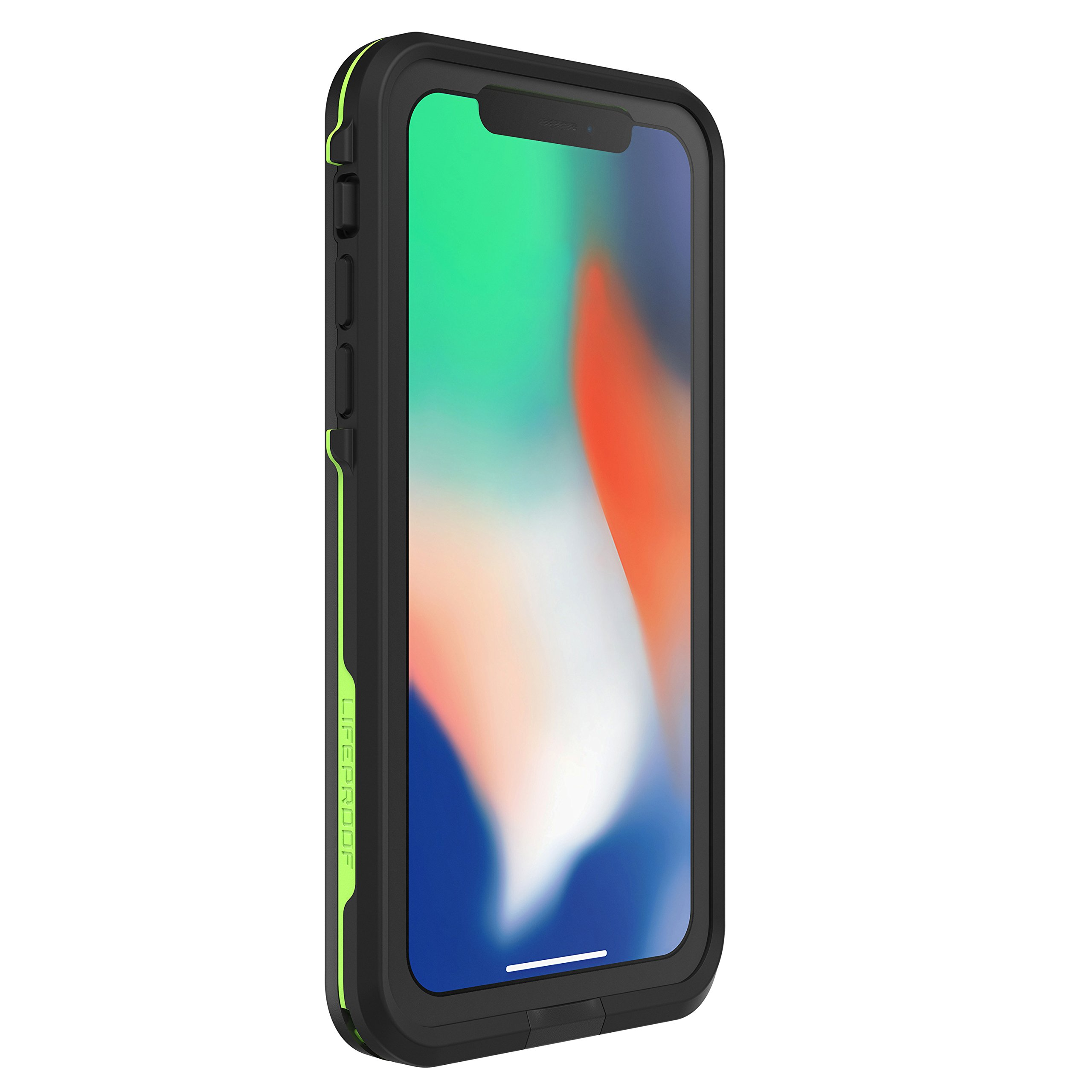 Lifeproof FRĒ SERIES Waterproof Case for iPhone X (ONLY) - Retail Packaging - NIGHT LITE (BLACK/LIME) by LifeProof (Image #3)