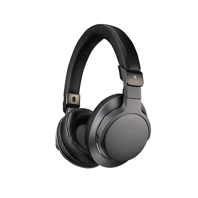 Audio-Technica ATH-SR6BTBK Bluetooth Wireless Over-Ear High Resolution Headphones with Mic & Control, Black