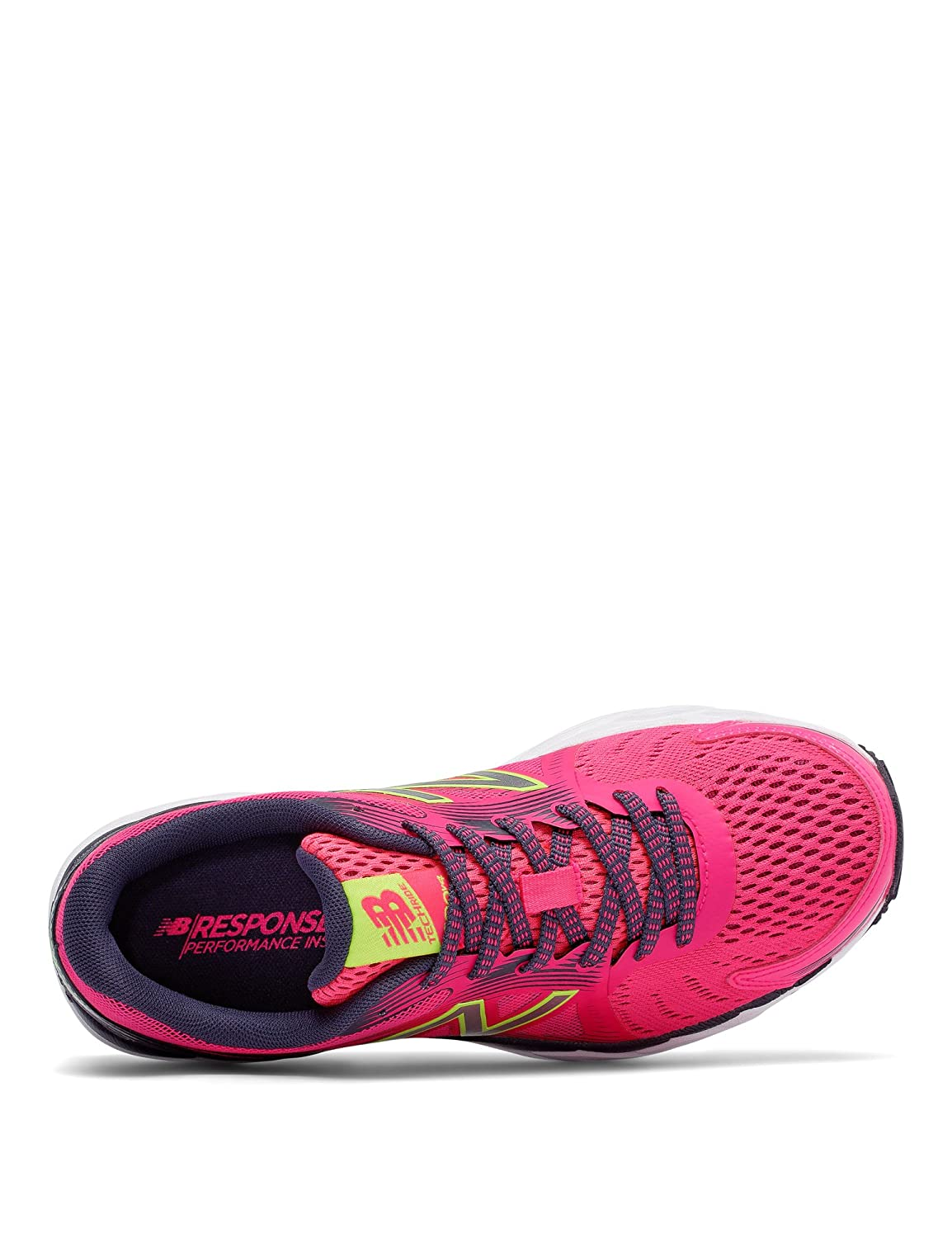 New Balance Women's W680v4 Running Shoe B01FSJCNES 11 B(M) US|Alpha Pink/Outer Space/Lime Glow