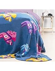 Character World Official Fortnite Llama Fleece Blanket Throw   Purple Llama Pinata Design Super Soft Blanket   Perfect For Any Bedroom