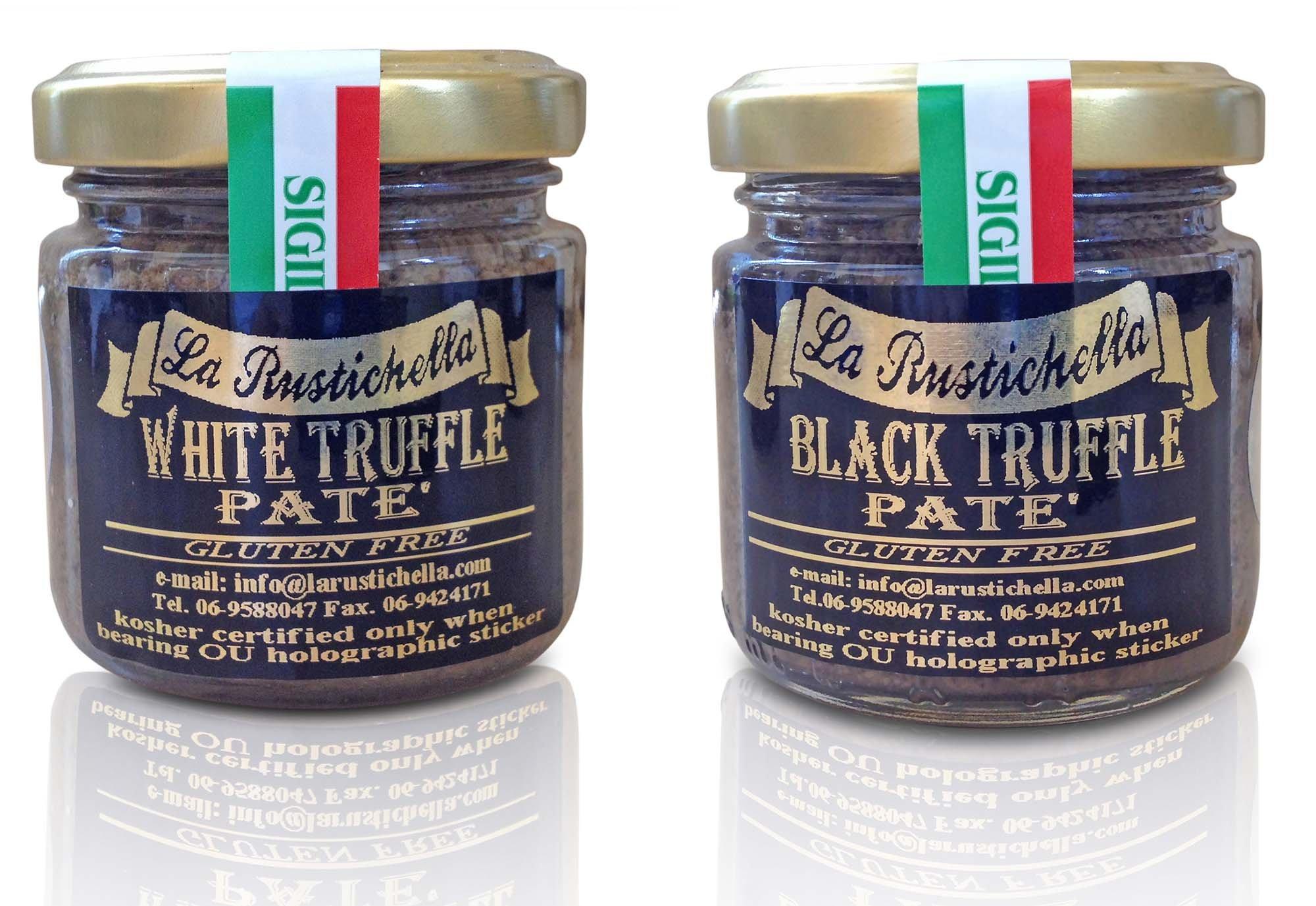 La Rustichella Truffles USA - Gourmet Truffle Pate - OU Kosher - Truffle Pate Variety (Net Wt. 3.2 oz each) by  La Rustichella