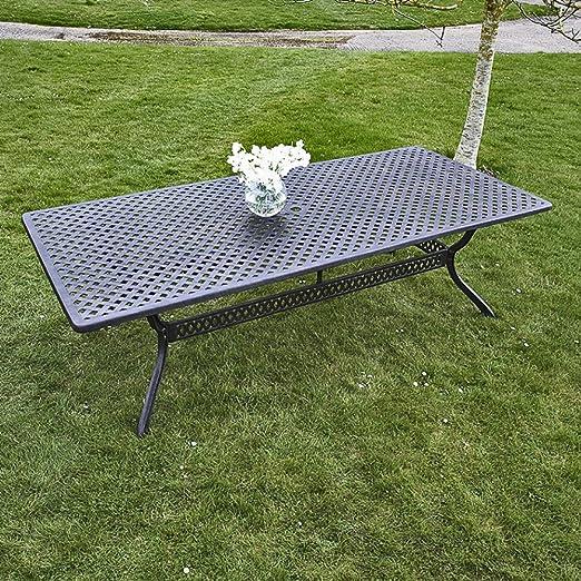 Salón de jardín – mesa rectangular Madison 260 x 120 cm y 8 sillas Emma: Amazon.es: Jardín