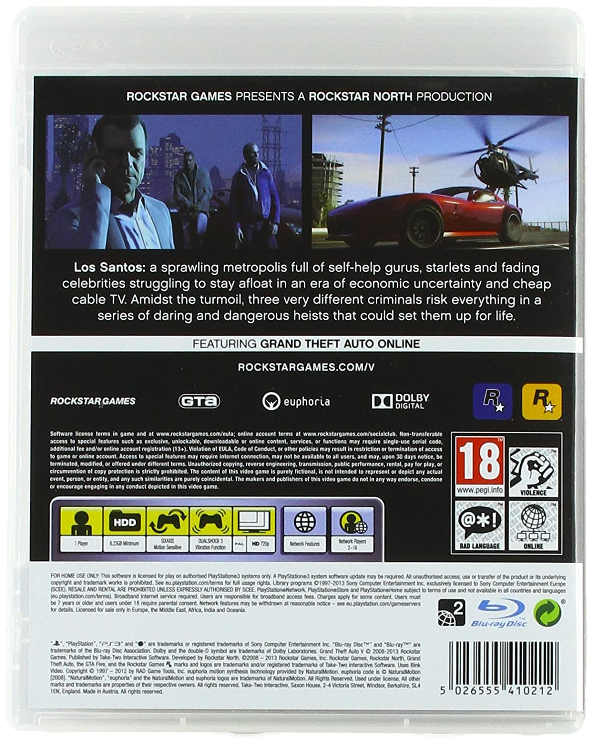 Grand Theft Auto V (PS3): Amazon co uk: PC & Video Games
