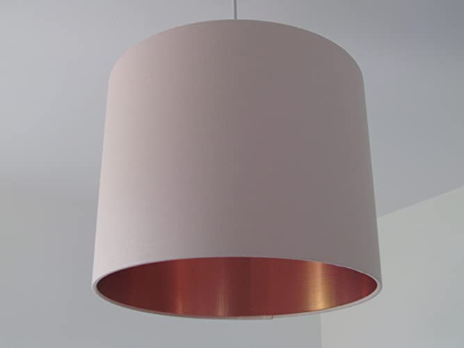 Handmade blush pink oyster brush copper metallic lined lampshade lightshade all sizes