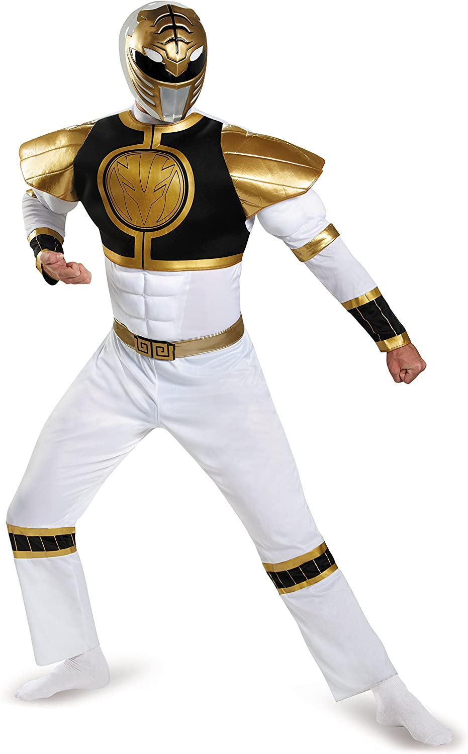 Mens Red Power Ranger Movie Muscle Costume