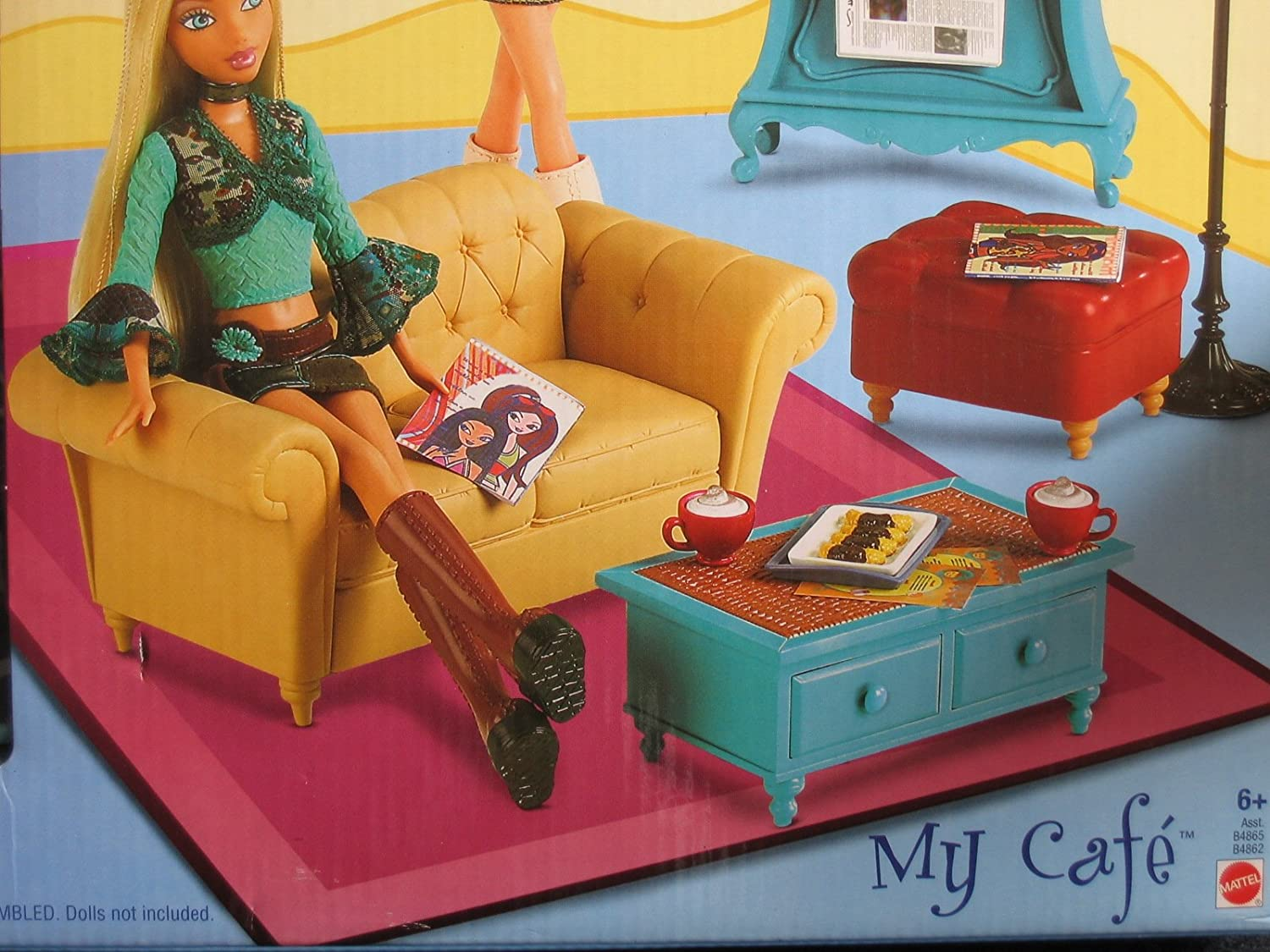 Barbie My Scene Cafe Tray with dome lid   RARE   Great Condition