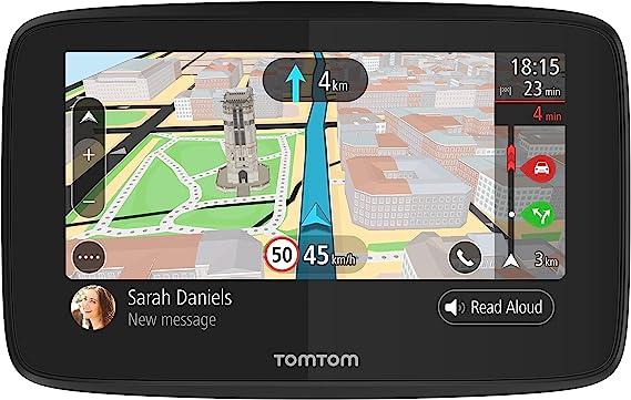 TomTom GO 520 - GPS para coche, 5 pulgadas, llamadas manos libres, Siri, Google Now, actualizaciones Wi-Fi, traffic para toda la vida mediante smartphone y mapas mundiales, mensajes de smartphone: Tomtom: Amazon.es: