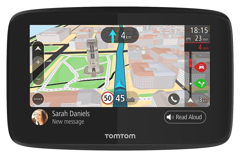 TomTom GO 620 Pkw-Navi (6 Zoll, mit Freisprechen, Siri und Google Now, Updates ü ber Wi-Fi, Lebenslang Traffic via Smartphone und Weltkarten, Smartphone-Benachrichtigungen, kapazitivem Display) 1PN6.002.01