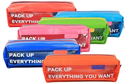 170083 - Pack de 2 estuches de plástico con 1 cremallera ...