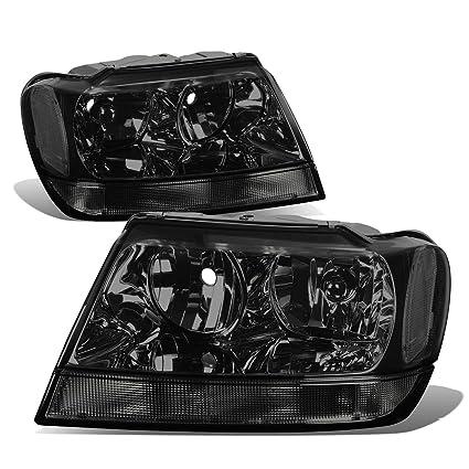 amazon com: for 99-04 jeep grand cherokee wj pair of smoke lens clear  corner headlights/lamps: automotive
