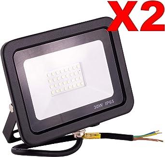 POPP® Foco Proyector LED 30W para uso Exterior Iluminación ...
