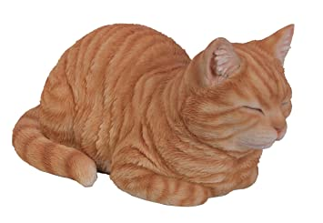 Vivid Arts Jengibre Gato soñando Ornamento de Resina