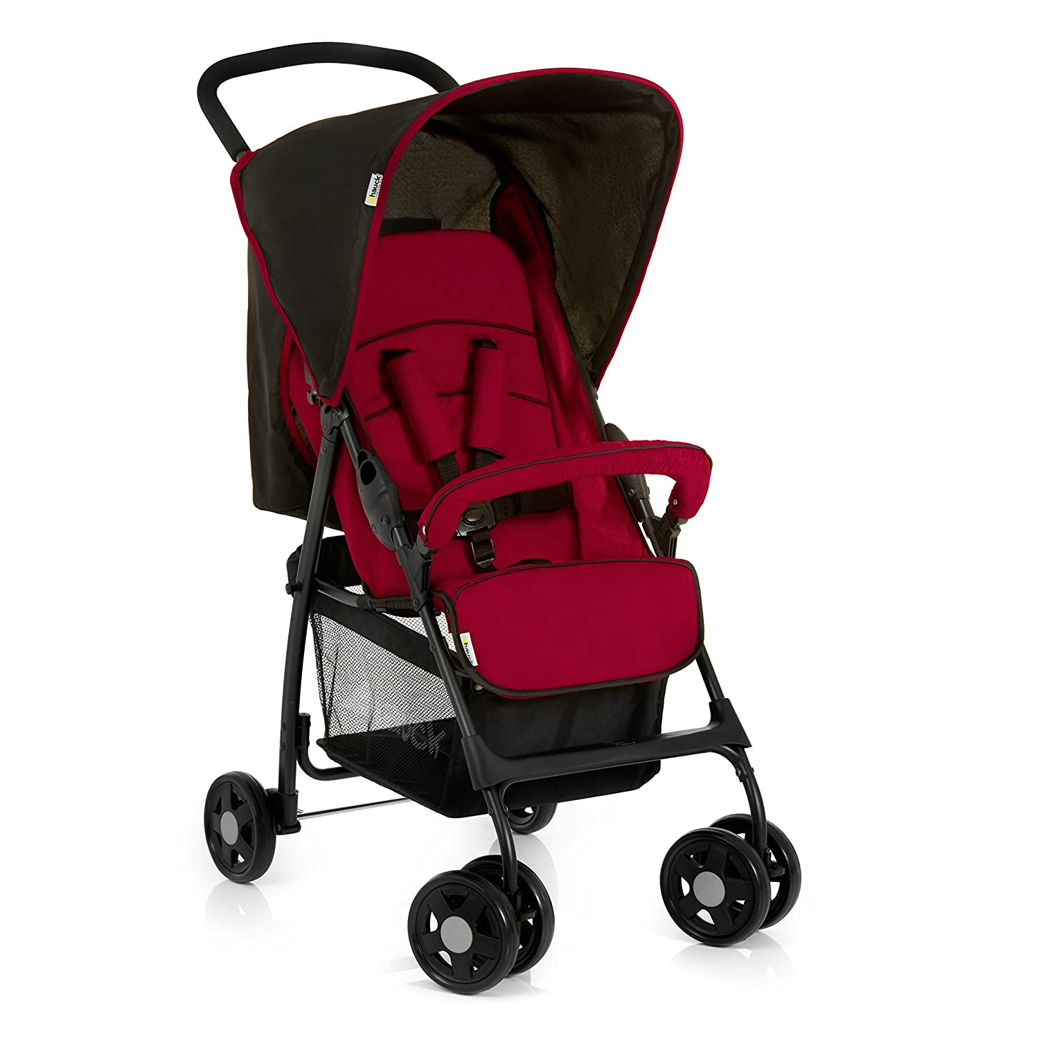 Hauck 171226 Sport Disney Stroller Sport, with Sitting in Extended Position, Folding, for Children from 0 Months up to 6.2 kg, Tango Caviar (Red Black)