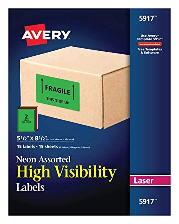 Amazon.com: Avery Permanente rectangular etiquetas para ...