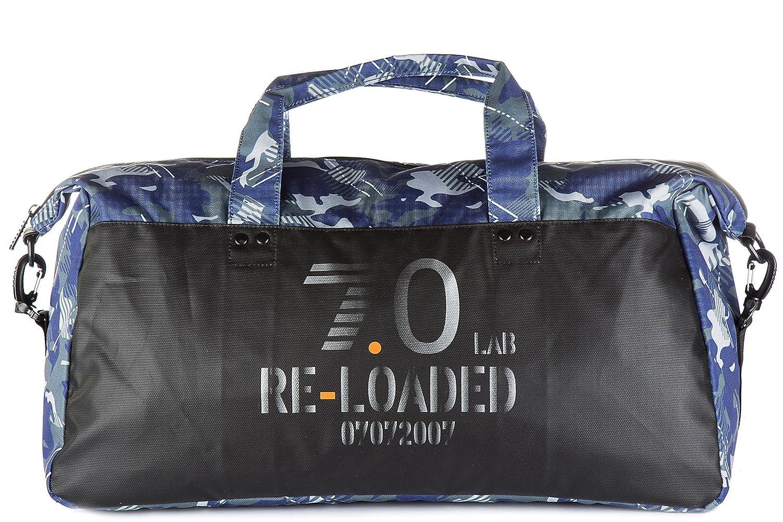 Emporio Armani メンズ borsa borsone tracolla fitness uomo palestra nylon カラー: ブルー B01MXQGEWZ