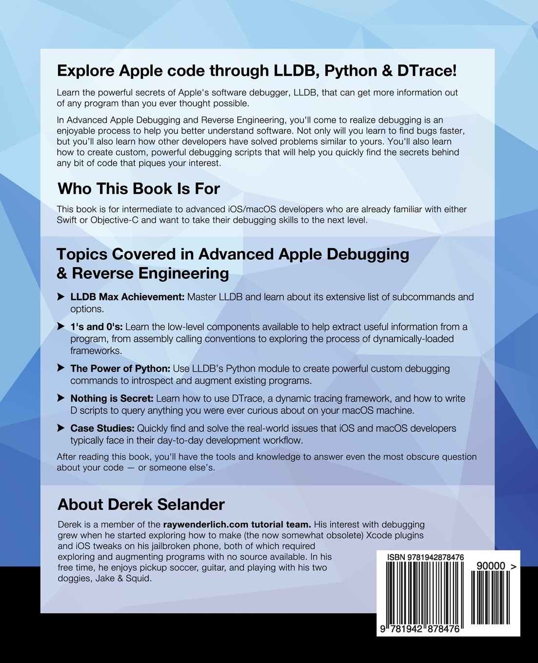 Advanced apple debugging reverse engineering second edition advanced apple debugging reverse engineering second edition exploring apple code through lldb python and dtrace raywenderlich team derek selander baditri Image collections