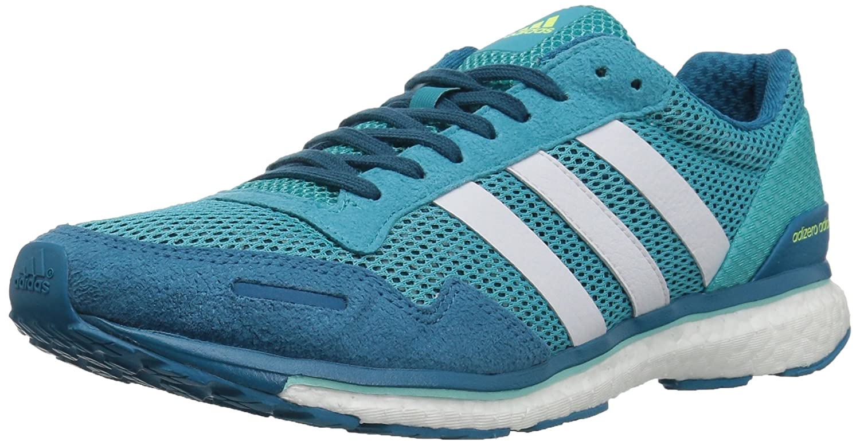 - adidas Wohommes Adizero Adios w Running chaussures, bleu blanc Energy Aqua, 7.5 Medium US