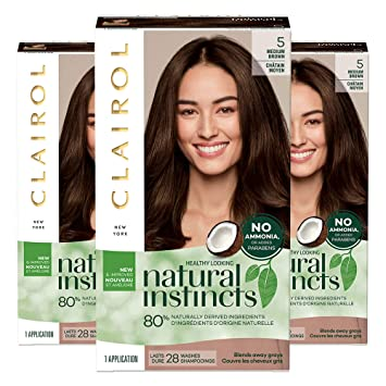Amazon Com Clairol Natural Instincts Semi Permanent Ammonia Free Hair Color 5 Medium Brown Hazelnut Pack Of 3 Beauty