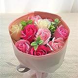 【Amazon.jp限定】BIO NEWミディローズブーケ ミディローズブーケ ローズ10輪 定番商品 クリアバック・ギフトボックス付 お祝い 記念日 お見舞い バレンタインデー ホワイトデー 母の日 プレゼント ギフト (ピンク)