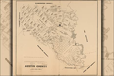 Amazon.com : 20x30 Poster; Map Of Austin County Texas 1880 ... on victoria texas county map, austin texas river map, austin texas and surrounding areas map, arlington texas county map, wimberley texas county map, austin texas welcome, lake livingston texas county map, bryan texas county map, austin texas on map of texas, bastrop county texas map, austin texas location on map, round rock texas county map, denton texas county map, big spring texas county map, west texas county map, austin texas town map, athens texas county map, north texas county map, houston texas county map, beaumont texas county map,