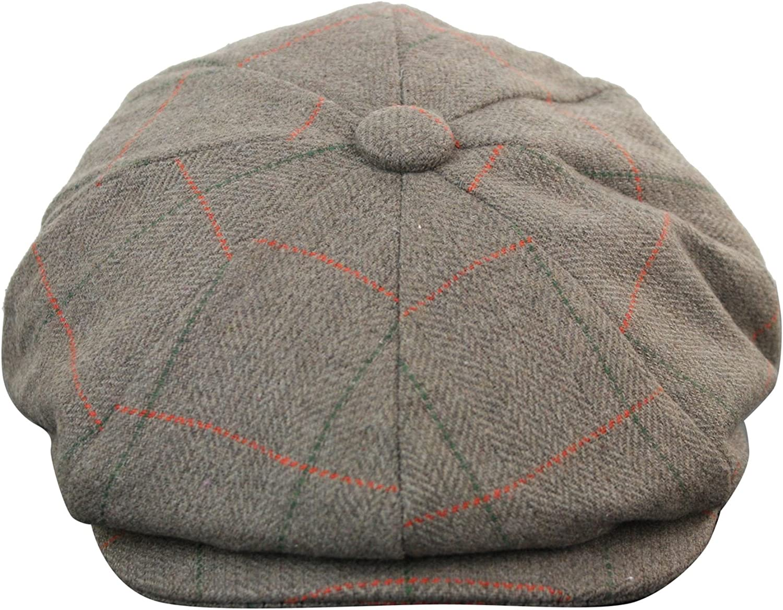 Men Tweed Newsboy Caps Peaky Blinders Baker Boys Flat Check Beret Hat Gatsby Cap