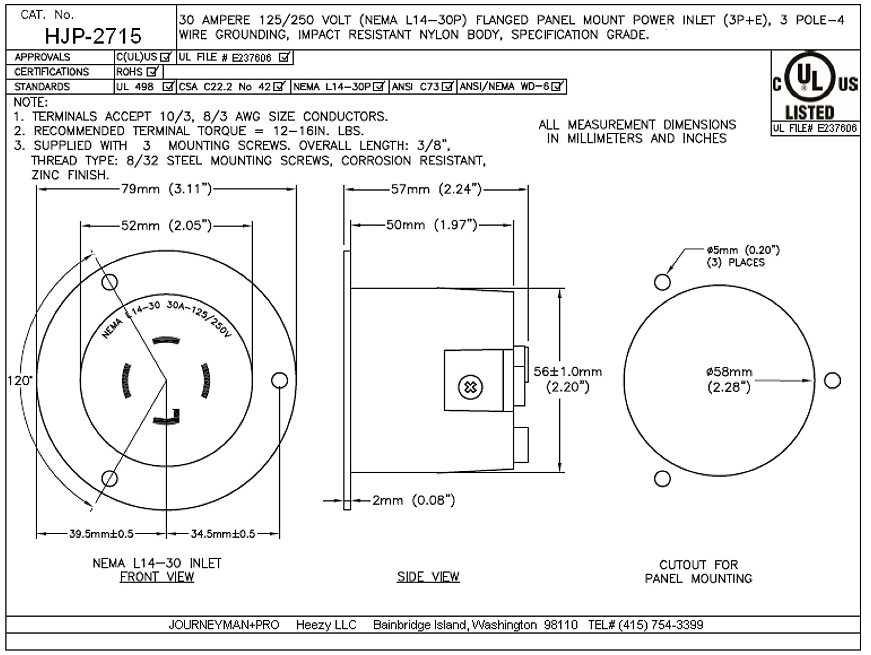 Nema 30 Amp Twist Lock Wiring Diagram