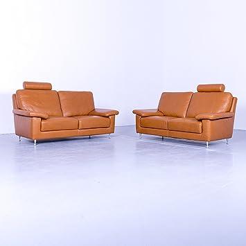 Amazonde Willi Schillig Designe Sofa Garnitur Cognac Braun Leder