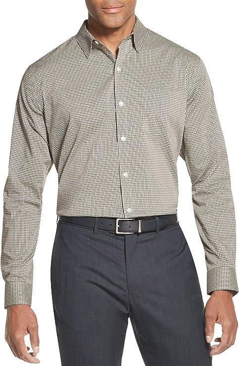 Van Heusen - Camisa de Manga Larga para Viajero - Beige ...