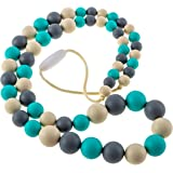 Chew-Choos 'Playdate' Silicone Teething Necklace - Natural Baby Sensory Teether and Nursing Gift for Moms (Oceana)