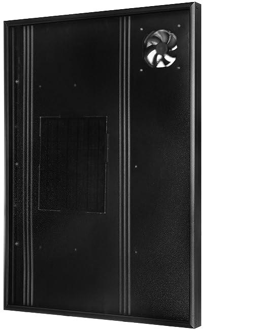 Calentador solar de aire Nakoair Colector OS22 (Negro) 550W Acondicionador Ventilador de extracción Secador Panel de calefacción de espacios ...