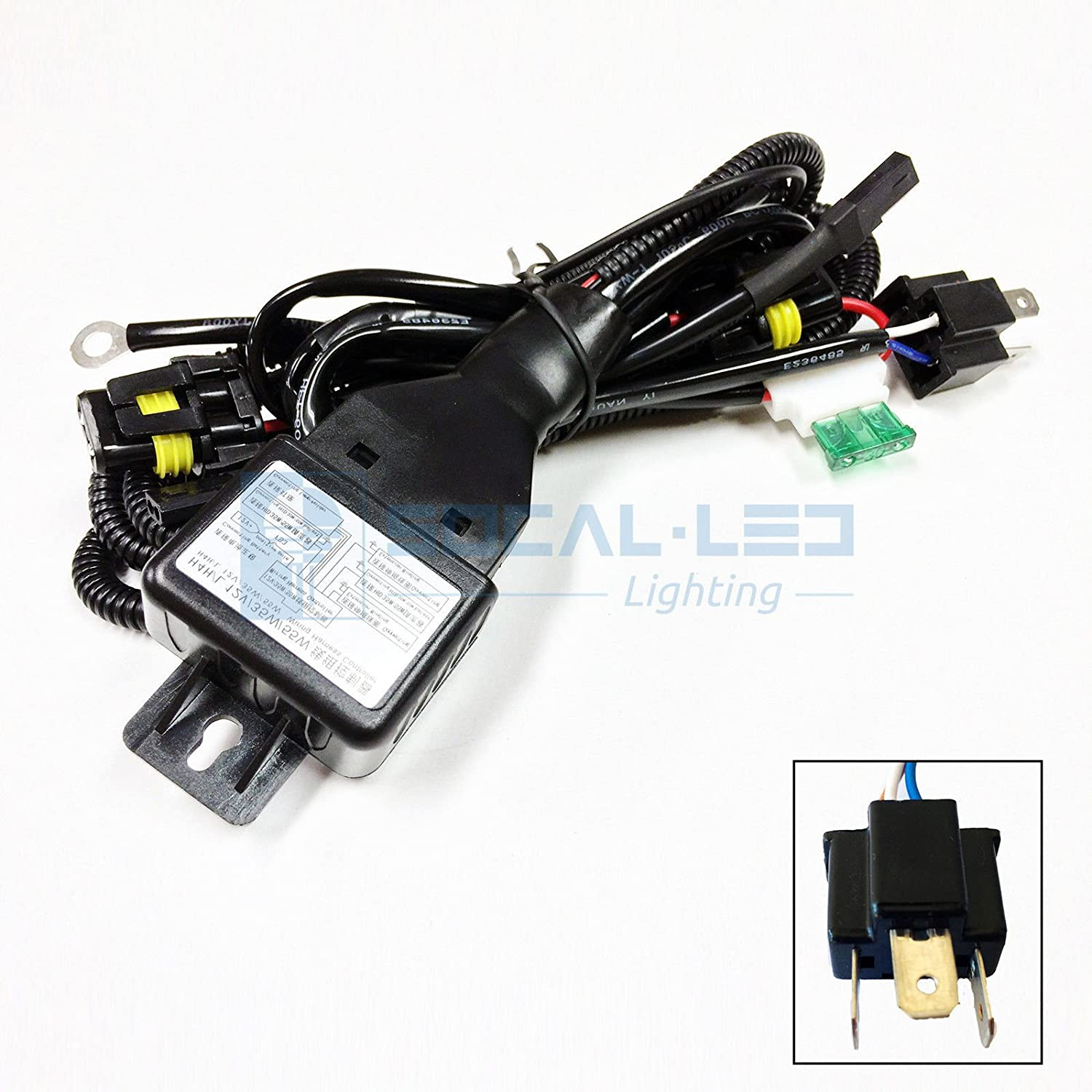 81lX2OBNA6L._SL1500_ amazon com o nex hid relay harness 9007 (hb5 9004) 12v 35w 55w bi Custom Auto Wire Harness H4 at aneh.co