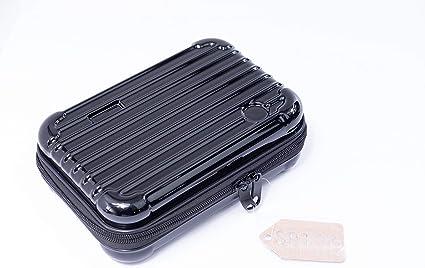 Funda rígida de fibra de carbono, bolsa de transporte portátil, estuche para lápices, disco duro externo