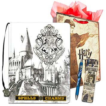 InkWorks Harry Potter Diary and Pen Set -- Bundle Includes Premium Harry Potter Journal, Ballpoint Click Pen, Bookmark and Harry Potter Gift Bag ...