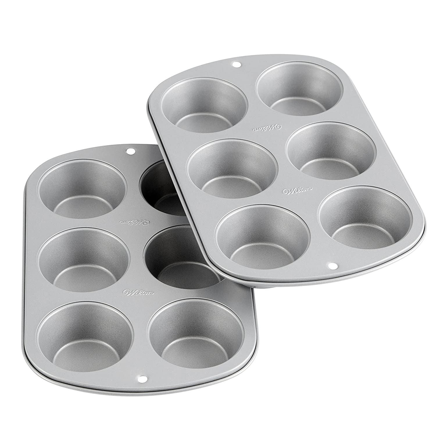 Wilton Recipe Right Non-Stick 6-Cup Standard Muffin Pan, Multipack of 2