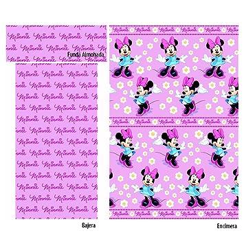 Juego sábanas coralina MINNIE Disney. Cama de 90 cm. Color Rosa: Amazon.es: Hogar