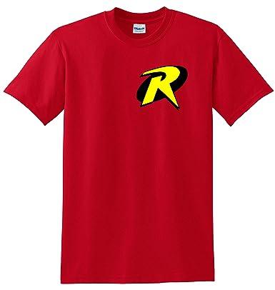 8cea179012c Robin Boy Wonder Batman Superhero Adult   Kids T-Shirt Red  Amazon ...